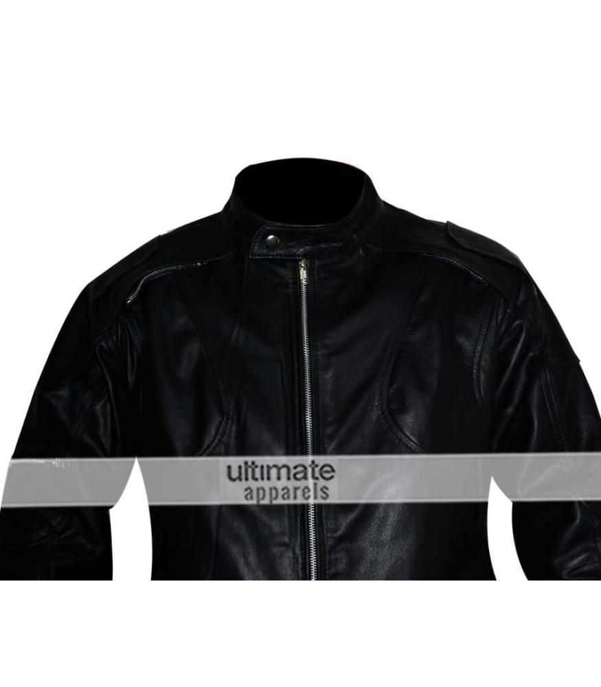 Z1r Marauder Motorcycle Black Leather Jacket