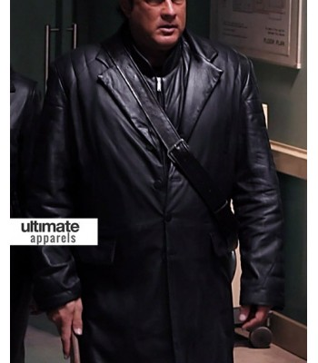Against the Dark Steven Seagal (Tao) Black Trench Coat