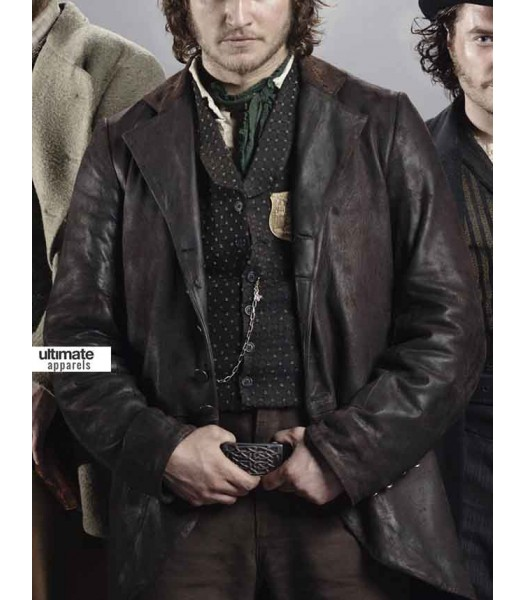 Copper Kevin Corcoran (Tom Weston Jones) Black Trench Coat