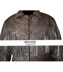 Deadfall Eric Bana (Addison) Distressed Fringe Men's Jacket