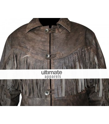 Deadfall Eric Bana (Addison) Distressed Fringe Men's Jacket