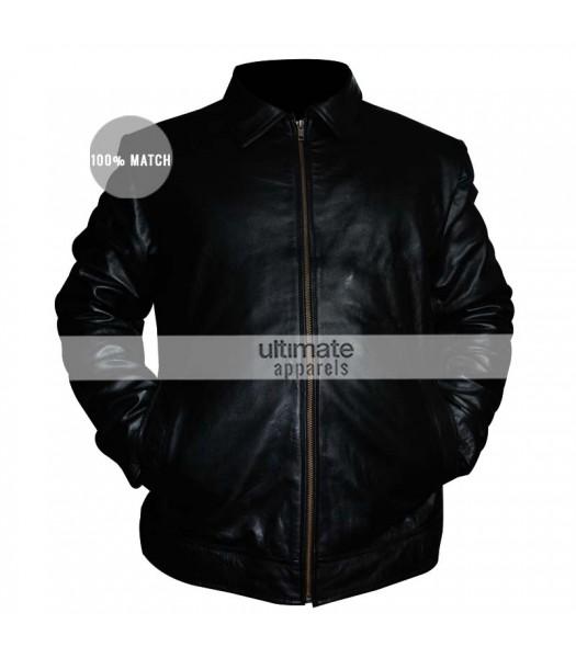 Faster Dwayne Johnson Driver Black Jacket Clothing