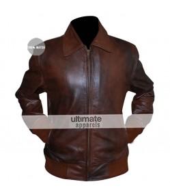 Happy Days Fonzie Brown Bomber Leather Jacket