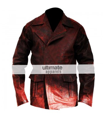 I, Robot Will Smith (Del Spooner) Distressed Red Jacket