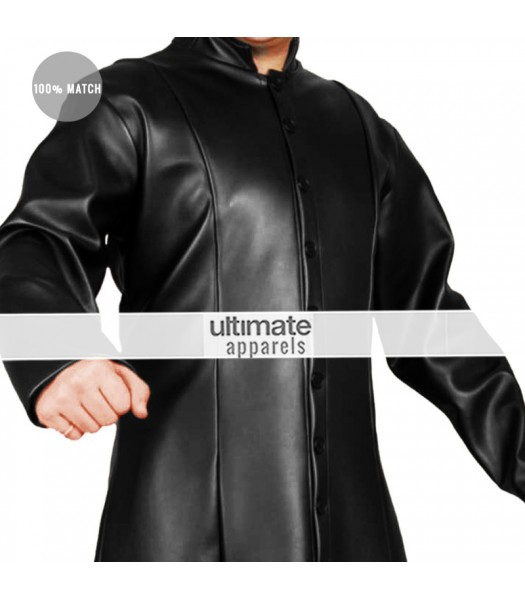 Matrix Neo Plus Cyberspace Fighter Leather Costume Coat