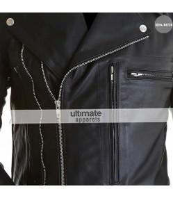 Terminator 2 Arnold Schwarzenegger Black Replica Jacket