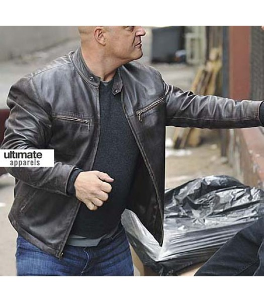The Shield Vic Mackey (Michael Chiklis) Black Distressed Jacket