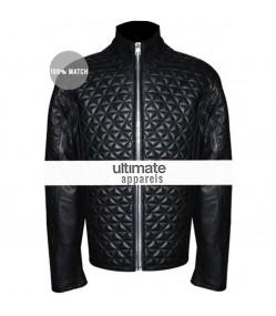 True Blood Season 4 Eric Northman Black Quilted Jacket