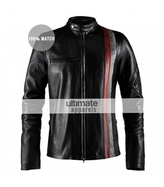 X-Men Scott Cyclops Motorcycle Black & Brown Jacket