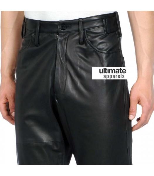 Men's Designers Loose Fit Faux Leather Pants