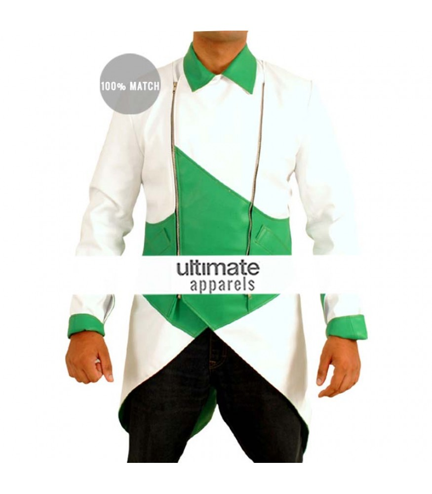Assassin S Creed Iii Connor Kenway Cosplay Green White Costume Jacket