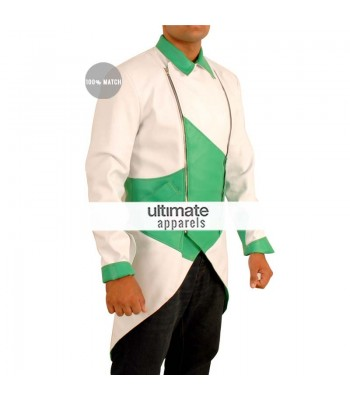 Assassin's Creed iii Connor Kenway Cosplay Green/White Costume Jacket