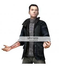 Fahrenheit Game Lucas Kane Shearling Black Jacket