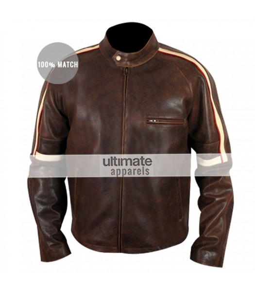 Getaway Brent Magna (Ethan Hawke) Brown Leather Jacket