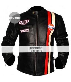 Le Mans Steve Mcqueen White/Black Grand Prix Jackets