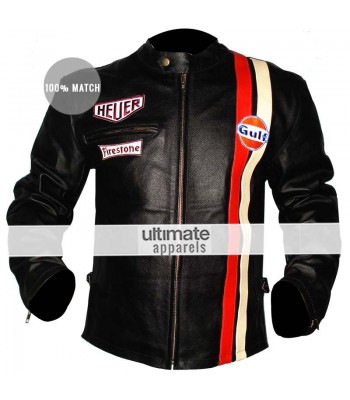 Le Mans Steve Mcqueen White/Black Grand Prix Jackets