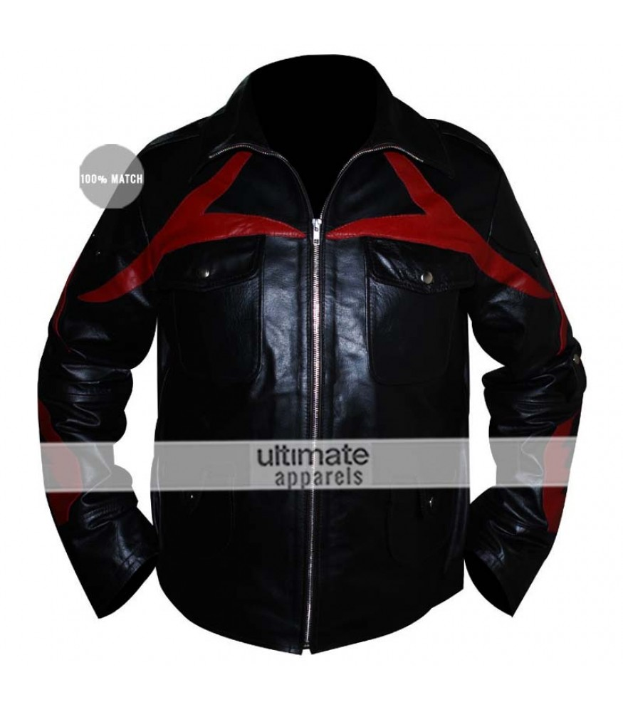 Prototype 2 Sgt James Heller Replica Black Leather Jacket
