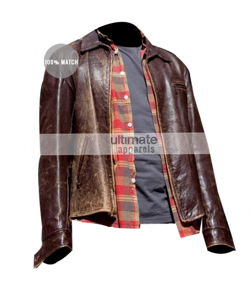 Surrogates Bruce Willis (Tom Greer) Distressed Brown Jacket