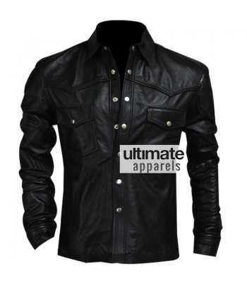Governor Black Leather Jacket In Walking Dead Season 4