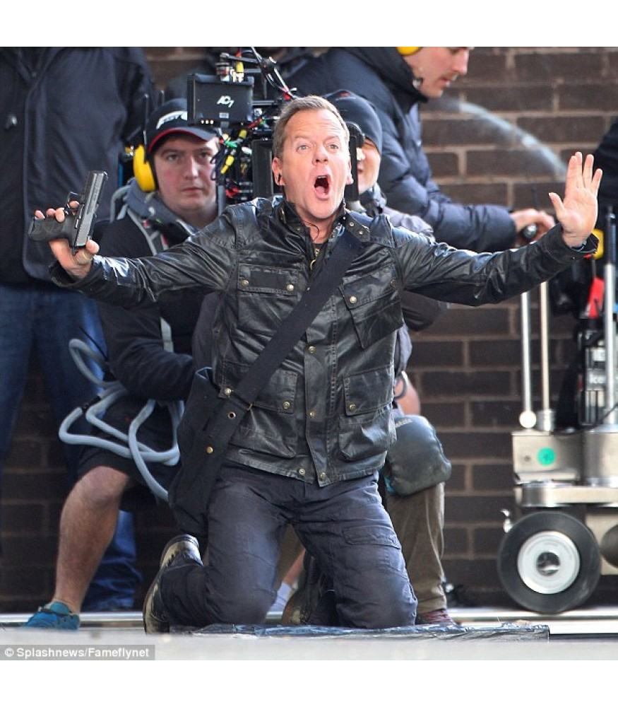 24: Live Another Day Jack Bauer Black Leather Jacket