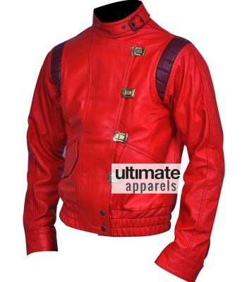 Akira Kaneda Capsule Red Biker Leather Jacket Costume