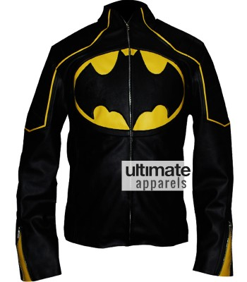Designers Batman Begins Style Black Biker Leather Jacket