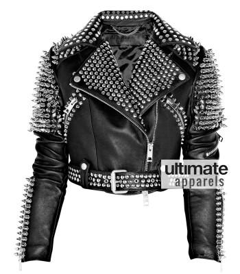 Britney Spears Designer's Women Black Spiked Studded Jacket