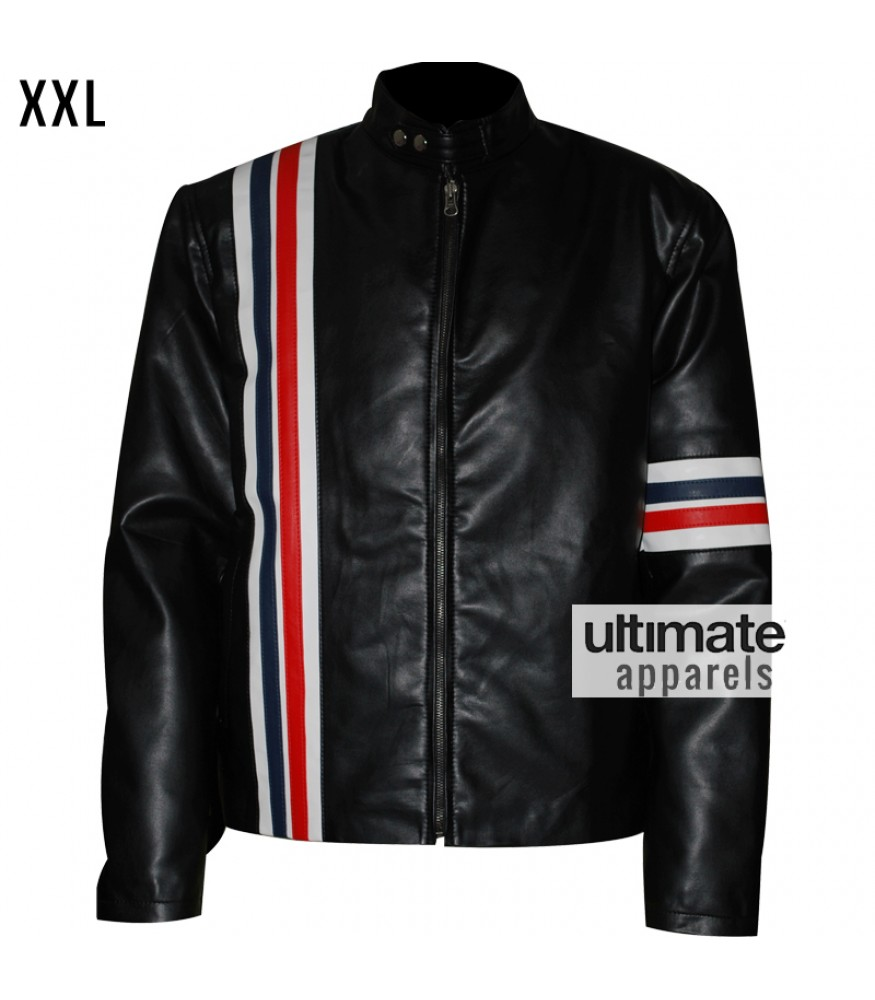 CAPTAIN AMERICA EASY RIDER BLACK REAL LEATHER JACKET ALL SIZES
