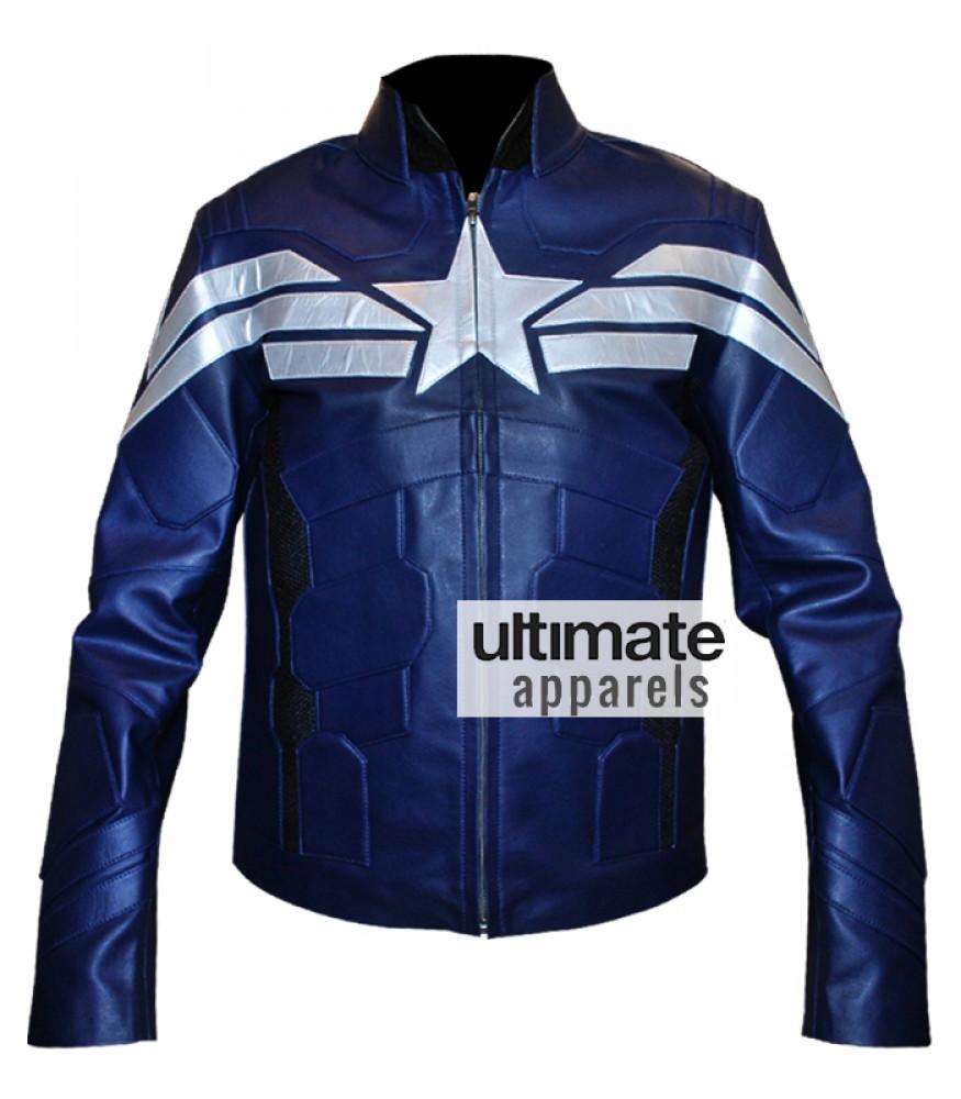 Captain America Chris Evans Winter Soldier 2014 Leather Costume