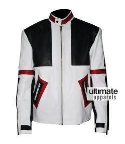Designers Chaser Box White & Black Motorbike Leather Jacket