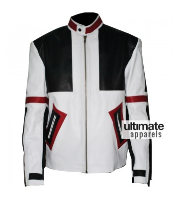 Designers Chaser Box White & Black Motorbike Leather Jacket