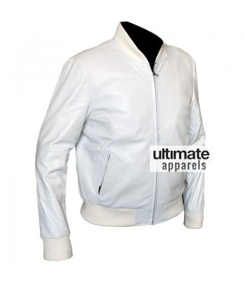 Crazy Stupid Love Ryan Gosling (Jacob) White Bomber Jacket