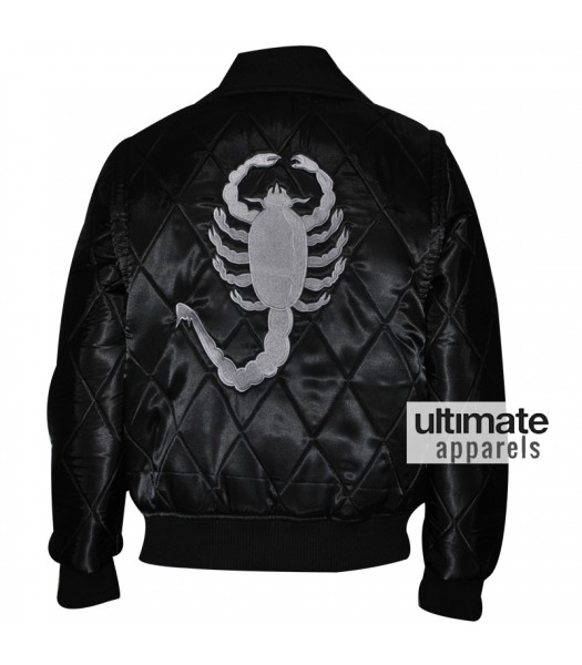 Drive Scorpion Ryan Gosling Black Satin Jacket