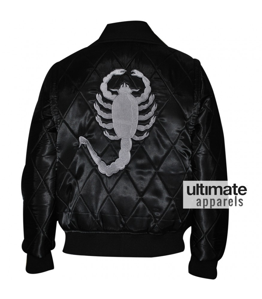 Drive Scorpion Ryan Gosling Black Satin Jacket