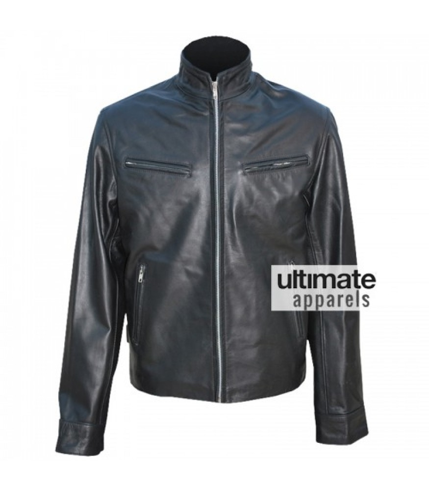 Fast and Furious 6 Vin Diesel Black Leather Jacket