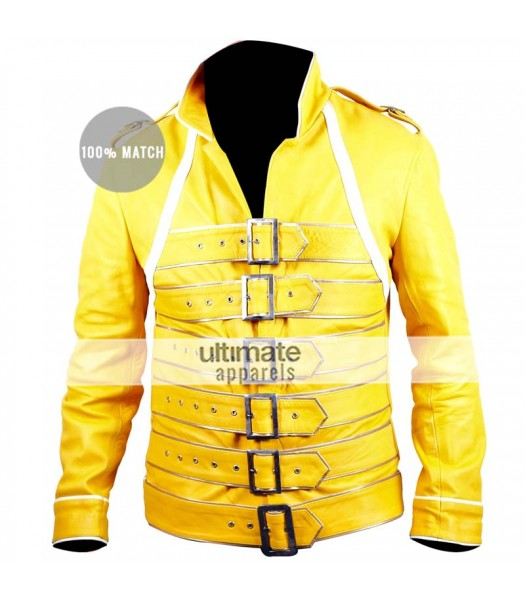 Freddie Mercury Concert Yellow Replica Jacket Costume