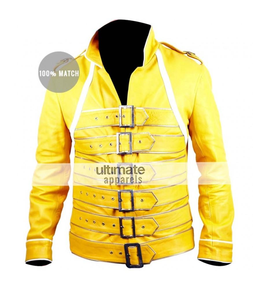 Freddie Mercury Concert Yellow Replica Jacket Costume