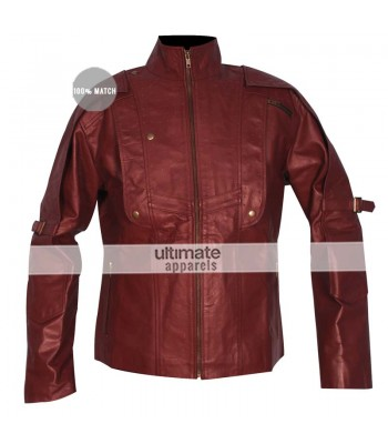 Guardians Of The Galaxy Chris Pratt Starlord Maroon Jacket