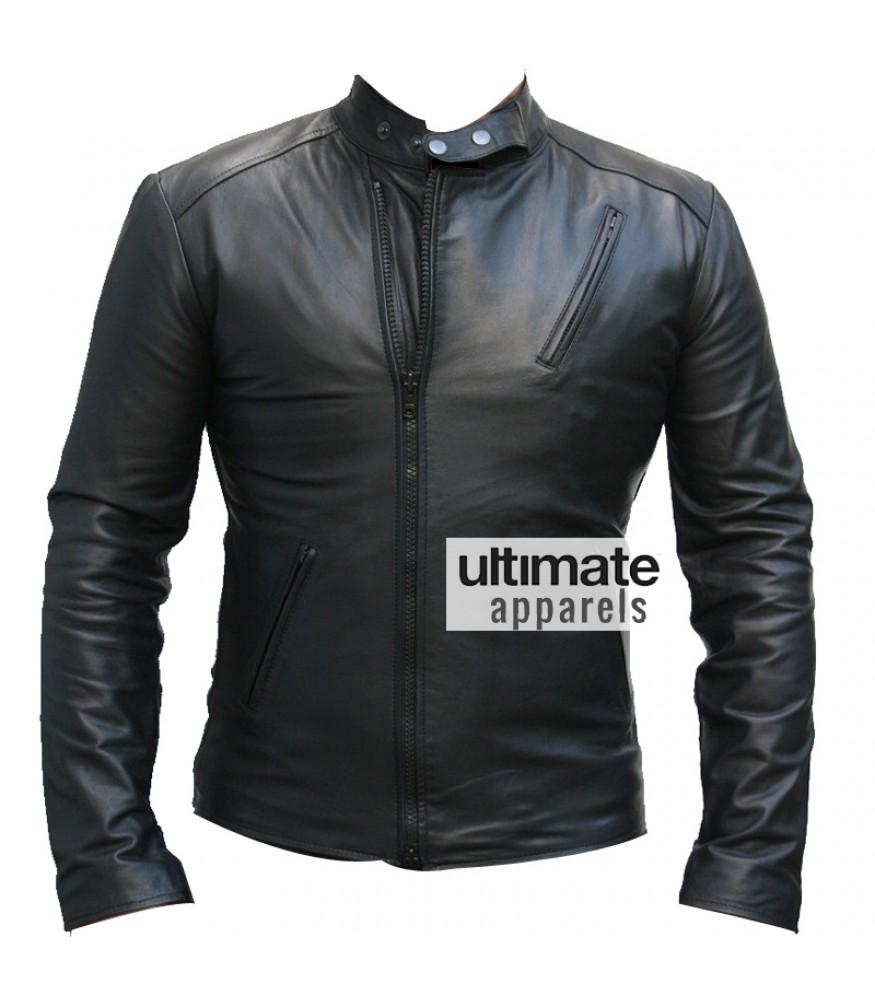 Ironman 1 Movie Tony Stark Black Replica Leather Jacket