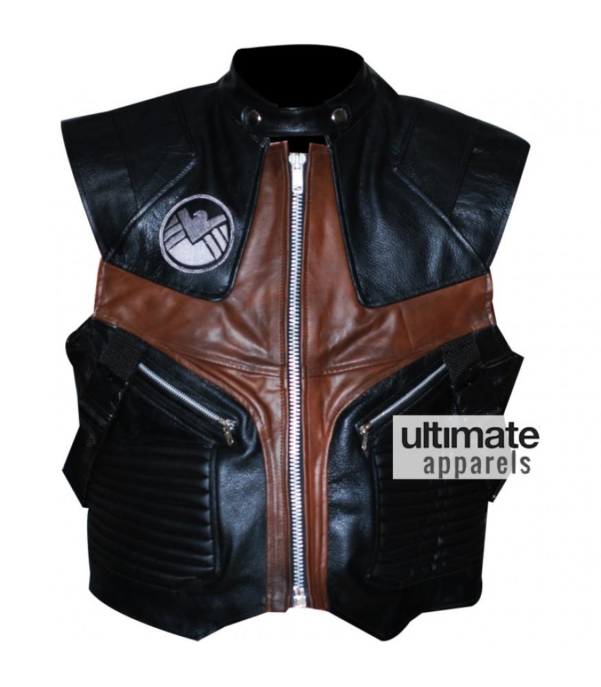 Jeremy Renner Avengers Hawkeye Leather Vest