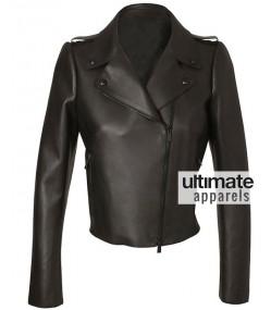 Kim Kardashian Valentino Biker Black Leather Jacket