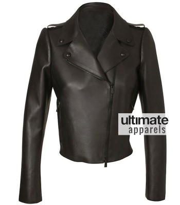 Kim Kardashian Valentino Biker Black Leather Jacket