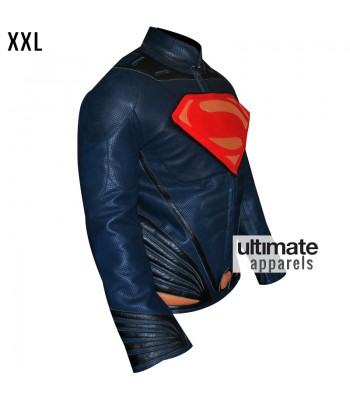 Man of Steel Superman Leather Costume Jacket