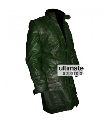 Designers Men Green Cargo Style Trench Jacket
