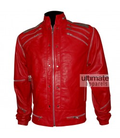 Michael Jackson Beat It Replica Red Leather Jacket