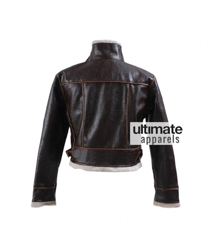 Resident Evil 4 Leon Kennedy Bomber Fur Leather Jacket