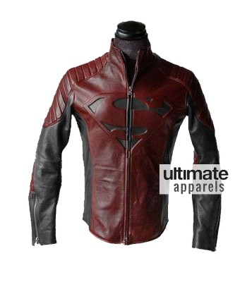 Smallville Superman Clark Kent Black and Red Leather Jacket