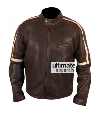 War Of the Worlds Tom Cruise Brown Stripes Leather Jacket