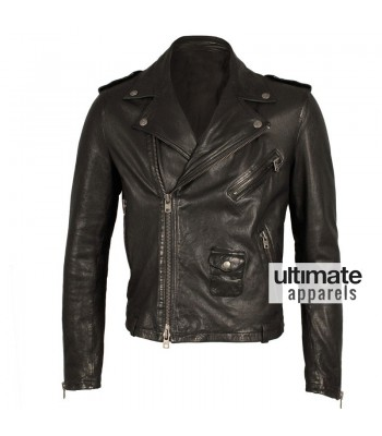 Alexander Mcqueen Mcq Black Biker Leather Jacket