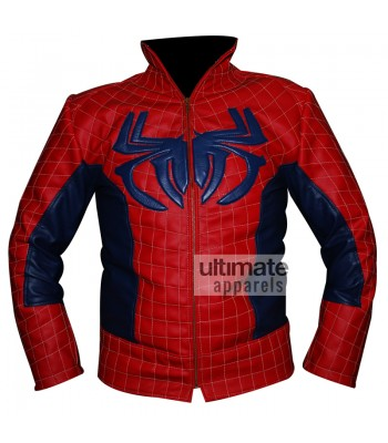 The Amazing Spiderman Red & Blue Leather Jacket Costume